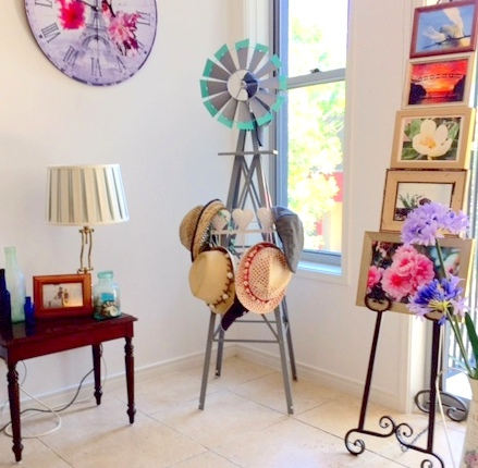 A Windmill Hat Stand ... sneak it onto our balcony and check out how fast it goes AWESOME!